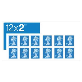 2nd Class Post Stamps 12s