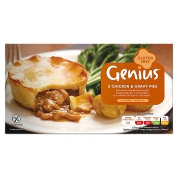 Genius Gluten Free 2 Chicken & Gravy Pies 320g