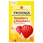 Twinings Strawberry & Raspberry 20 Single Tea Bags 40g