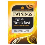 Twinings English Breakfast Decaffeinated 50 Tea Bags 125g
