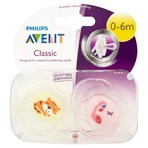 Philips Avent 2 Classic Orthodontic Soothers 0-6m