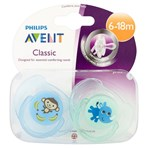 Philips Avent 2 Classic Orthodontic Soothers 6-18m
