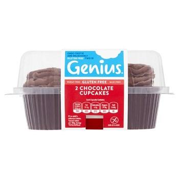 Genius Gluten Free 2 Chocolate Cupcakes