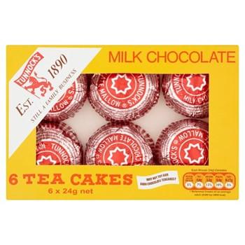 Tunnock's Milk Chocolate Tea Cakes 6 x 24g