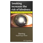 Sterling Green Superkings 20 Cigarettes
