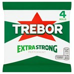 Trebor Extra Strong Peppermint Mints 4 Rolls 165.2g