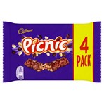 Cadbury Picnic Chocolate Bar 4 Pack 152g