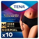TENA Silhouette Normal Noir Incontinence Pants Medium 10 Pack