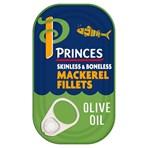 Princes Mackerel Fillets in Olive Oil 125g