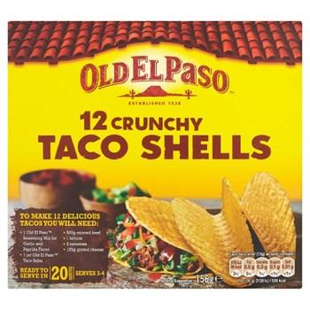 Old El Paso Crunchy Taco Shells x12 156g