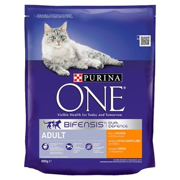 Purina ONE Adult Dry Cat Food Chicken and Wholegrains 800g