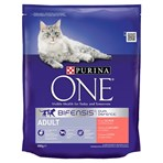 Purina ONE Adult Dry Cat Food Salmon and Wholegrain 800g