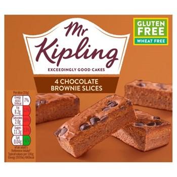 Mr Kipling 4 Chocolates Brownie Slices