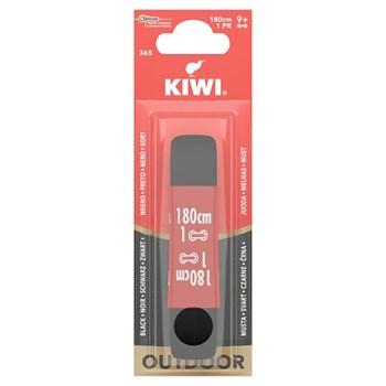 Kiwi Shoe Outdoor Flat Lace Black 180cm 1 Pair