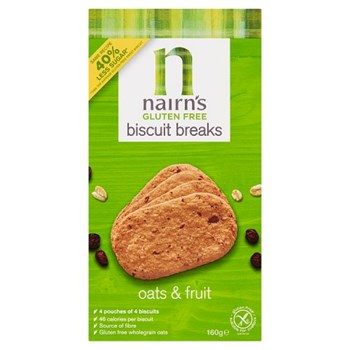 Nairn's Gluten Free Biscuit Breaks Oats & Fruit 160g