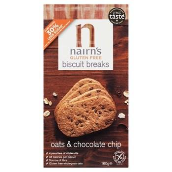 Nairn's Gluten Free Biscuit Breaks Oats & Chocolate Chip 160g