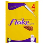 Cadbury Flake Chocolate Bar 4 Pack 102g