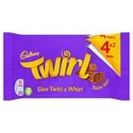 Cadbury Twirl Chocolate Bar 4 Pack 136g
