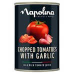 Napolina Chopped Tomatoes with Garlic in a Rich Tomato Juice 400g