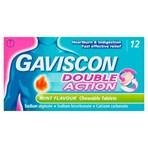 Gaviscon Double Action Mint Flavour Chewable Tablets 12 Tablets