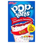 Kellogg's Pop Tarts Frosted Strawberry Sensation Toaster Pastries 8 x 48g (384g)