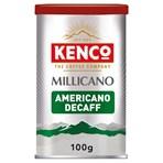 Kenco Millicano Americano Decaf Instant Coffee 100g
