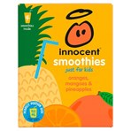 innocent Smoothies Just for Kids Oranges, Mangoes & Pineapples 4 x 150ml