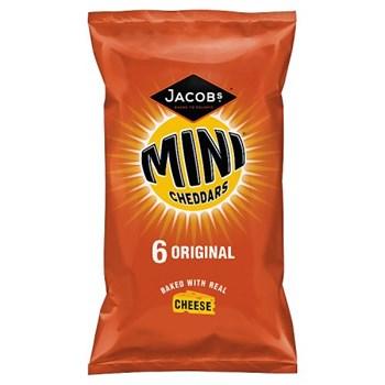 Jacob's Mini Cheddars Original Cheese Snacks 6 Pack 150g