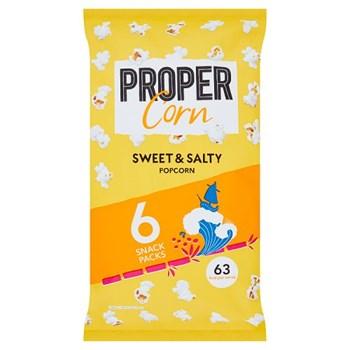 PROPERCORN Sweet & Salty Popcorn Multipack 6 x 14g