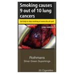 Rothmans Silver Green Superkings 20 Cigarettes