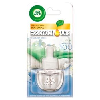 Air Wick Essential Oils Plug Diffuser Crisp Linen & Lilac 19ml