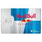 Red Bull Energy Drink, Sugar Free, 250ml (8 Pack)