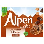 Alpen Light Cereal Bars Chocolate & Fudge 5 x 19g