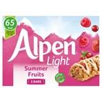 Alpen Light Cereal Bars Summer Fruits 5 x 19g