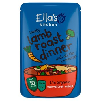 Ella's Kitchen Organic Lamb Roast Dinner Baby Pouch 10+ Months 190g