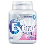 Extra White Bubblemint Chewing Gum Sugar Free Bottle 46 Pieces
