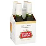 Stella Artois Gluten Free Lager Beer Bottles 4 x 330ml