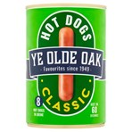 Ye Olde Oak 8 Classic Hot Dogs in Brine 400g