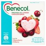 Benecol Strawberry & Cherry Yogurts 4 x 120g (480g)