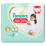 Pampers Premium Protection Nappy Pants Size 5, 30 Nappies, 12-17kg, Essential Pack