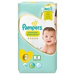 Pampers Premium Protection Size 2, 52 Nappies, 4-8kg, Essential Pack