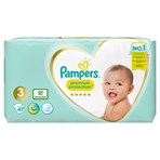 Pampers Premium Protection Size 3, 47 Nappies, 6-10kg, Essential Pack