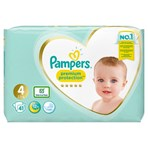 Pampers Premium Protection Size 4, 41 Nappies, 9-14kg, Essential Pack
