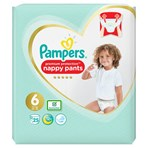 Pampers Premium Protection Nappy Pants Size 6, 25 Nappies, 15+kg, Essential Pack