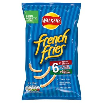 Walkers French Fries Variety Snacks 6x18g