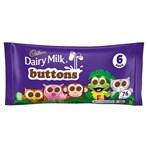 Cadbury Dairy Milk Buttons 6 Treatsize Chocolate Bags 84g