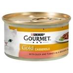 Gourmet Gold Tinned Cat Food Duck and Turkey Casserole 85g