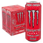 Monster Ultra Red Energy Drink 4 x 500ml