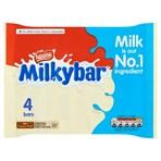 Milkybar White Chocolate Bar Multipack 25g 4 Pack