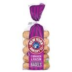 New York Bakery Co. 5 Cinnamon & Raisin Bagels